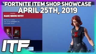 Fortnite Item Shop UPDATE *NEW* BLACK WIDOW SKIN! [April 25th, 2019] (Fortnite Battle Royale)