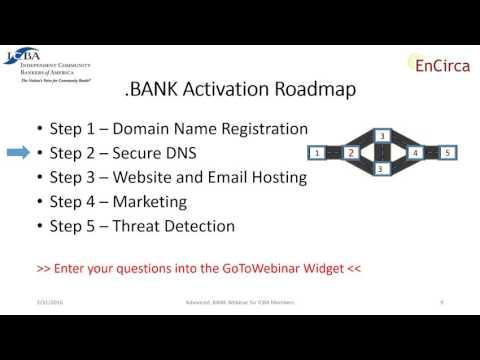 dotBANK Webinar: A Clear Road Map for Activation 03-31-2016