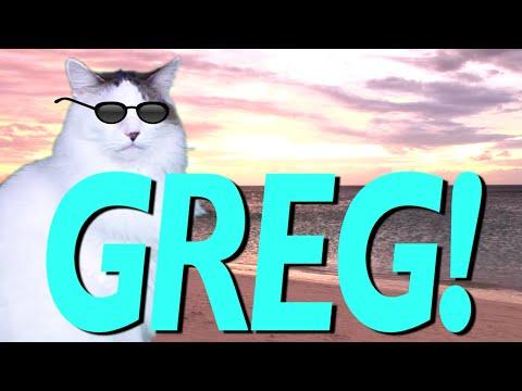 HAPPY BIRTHDAY GREG! - EPIC CAT Happy Birthday Song