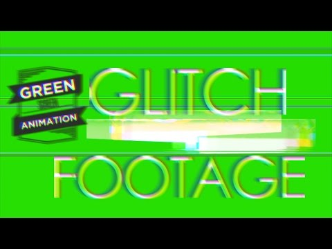 Glitch Footage with SFX - Green Screen Footage Free thumbnail