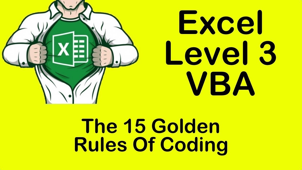 Excel VBA The 15 Golden Rules Of CodingVideoCitrus