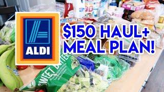 $150 ALDI HAUL + MEAL PLAN 🛒 WALMART HAUL TOO!
