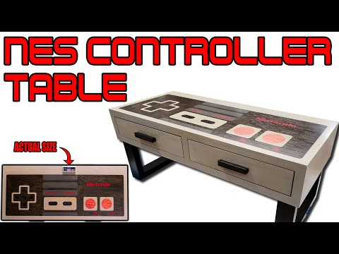 How to Build a Giant NES Controller Coffee Table