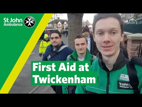 Providing first aid at Twickenham | Student Volunteering Week | St John Ambulance