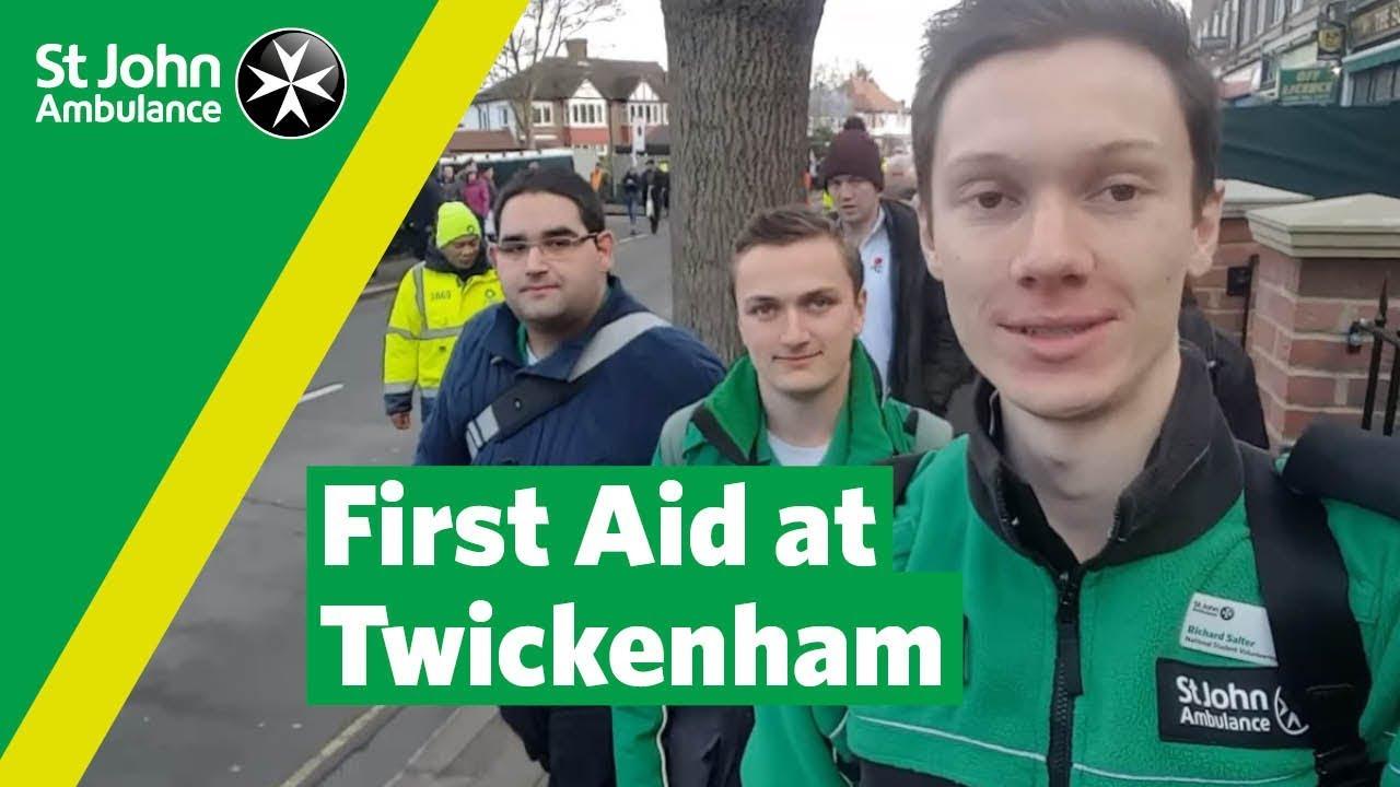 Providing first aid at Twickenham | Student Volunteering Week | St John  Ambulance