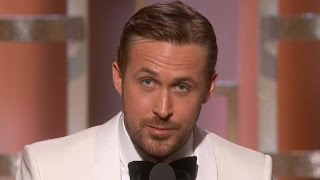 ryan gosling dedicates golden globe win to eva mendes in touching speech   watch
