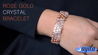 Sieraden maken - Rose gold Crystal Bracelet (DIY tutorial by Sayila)