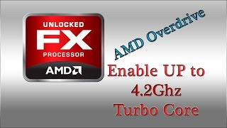 AMD OverDrive OVERCLOCK - Habilitando Turbo Boost FX-8150 4.2Ghz