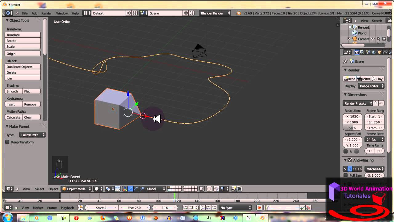 blender how to make a circle