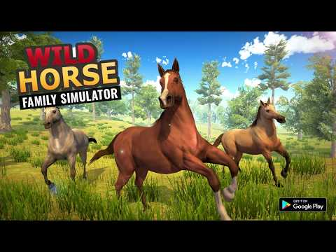 Wild Horse Family Sim : Horse Games I Android Gameplay HD