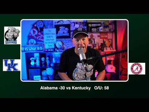 Alabama vs Kentucky 11/21/20 Free College Football Picks and Predictions CFB Tips Pick Dawgz