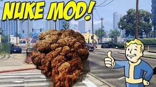 "Nuke Mod! ► ""Nuke Railgun"" Grand Theft Auto 5 PC ( Mod Review )"