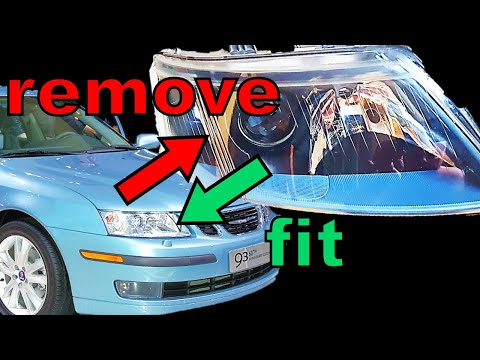How to Replace Headlights Saab 9-3 | 03-07 Model Years
