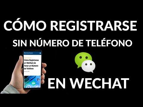 Cómo Registrarse en WeChat sin Número de Teléfono