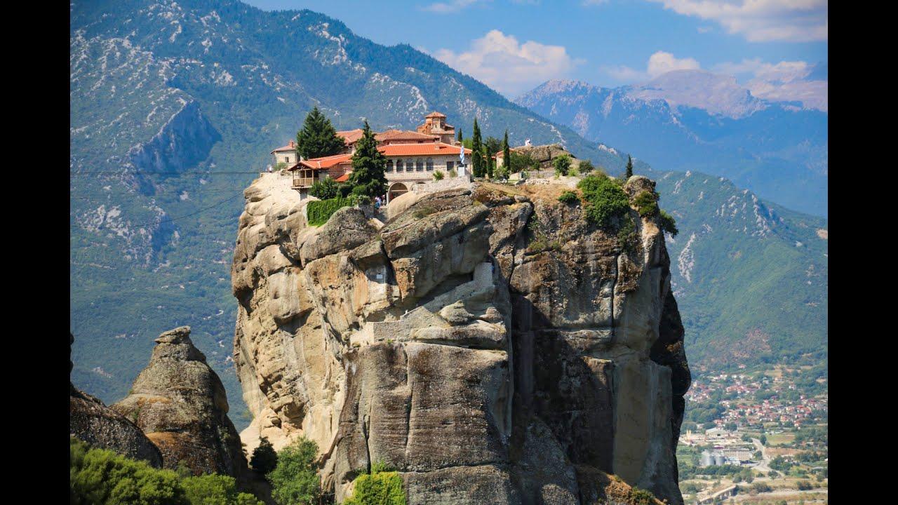 Atop the Monastery of the Holy Trinity, Meteora, Greece ...