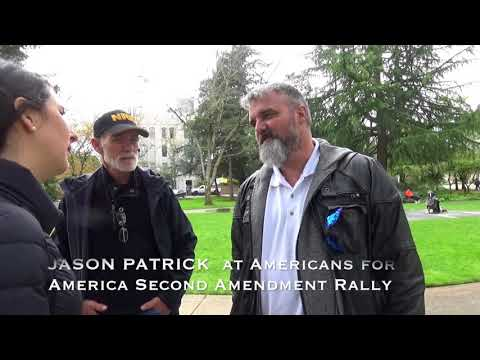 Malhuer Refuge defendant Jason Patrick appears at Salem Second Amendment Rally