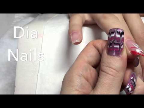 Nail Art/ Naildesign Blumen malen auf Gelnägel  Einfach zum nachmachen