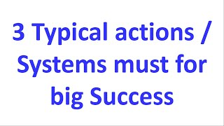 Raju D G Talk | 3 Typical Actions | System For Success | 1 Behavior Will Transform Nation