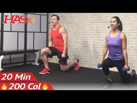 20 Min Beginner Weight Training for Beginners Workout Strength Training Dumbbell Workouts Women Men