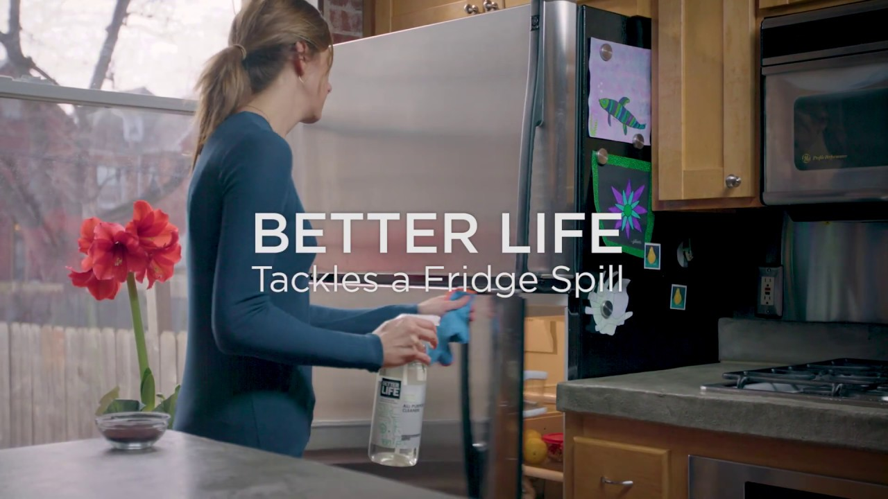 Better Life All Purpose Cleaner Tackles A Fridge Spill Youtube