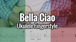 Bella Ciao (Ukulele Fingerstyle Play Along) Tabs On Screen