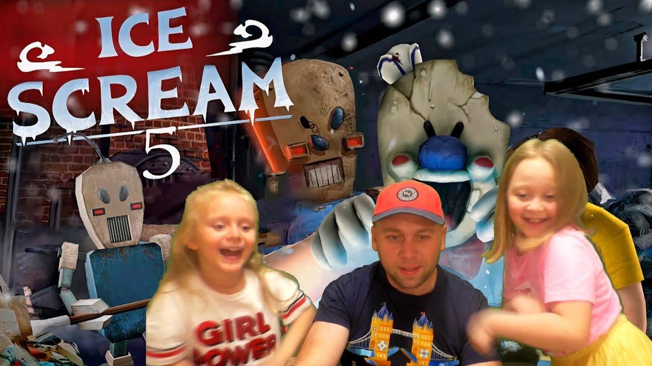 Мороженщик 5: веселое прохождение с танцами 💃 Новый уровень Ice Scream 5.