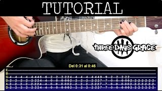 Cómo tocar Lost in you - Three Days Grace (Tutorial Guitarra) / How to play