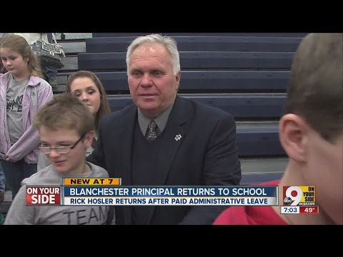 Blanchester High School Principal Rick Hosler returns to school