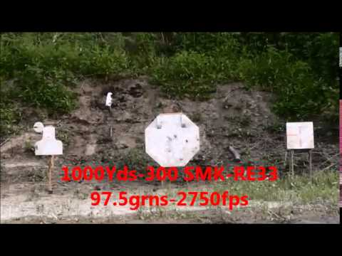 Savage 110 BA 338 Lapua Magnum with 300 SMK Reloder 33 1000 yards