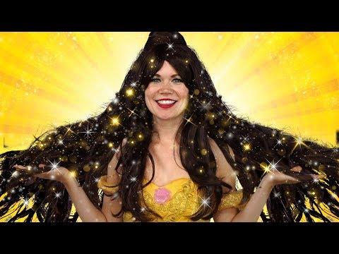 BELLE'S MAGIC HAIR. WITH JASMINE, ELSA AND ANNA. Totally TV Parody.