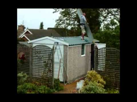 How To Safely Remove Your Asbestos Garage Roof Youtube