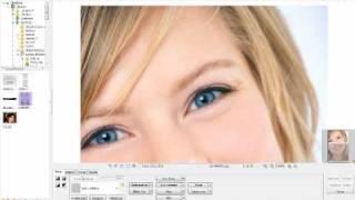 como mudar a cor do olho e deixar um efeito porcelana no rosto photoscape