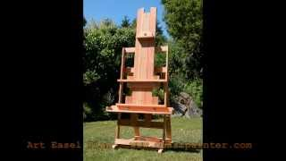 Make Your Own Wood Art Easel With This Plan