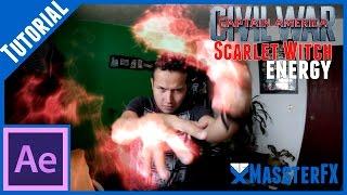 after effects tutorial    scarlet witch vfx civilwar