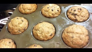 How To Whole Wheat Banana Chocolate Chip Muffins! : Vlog #3