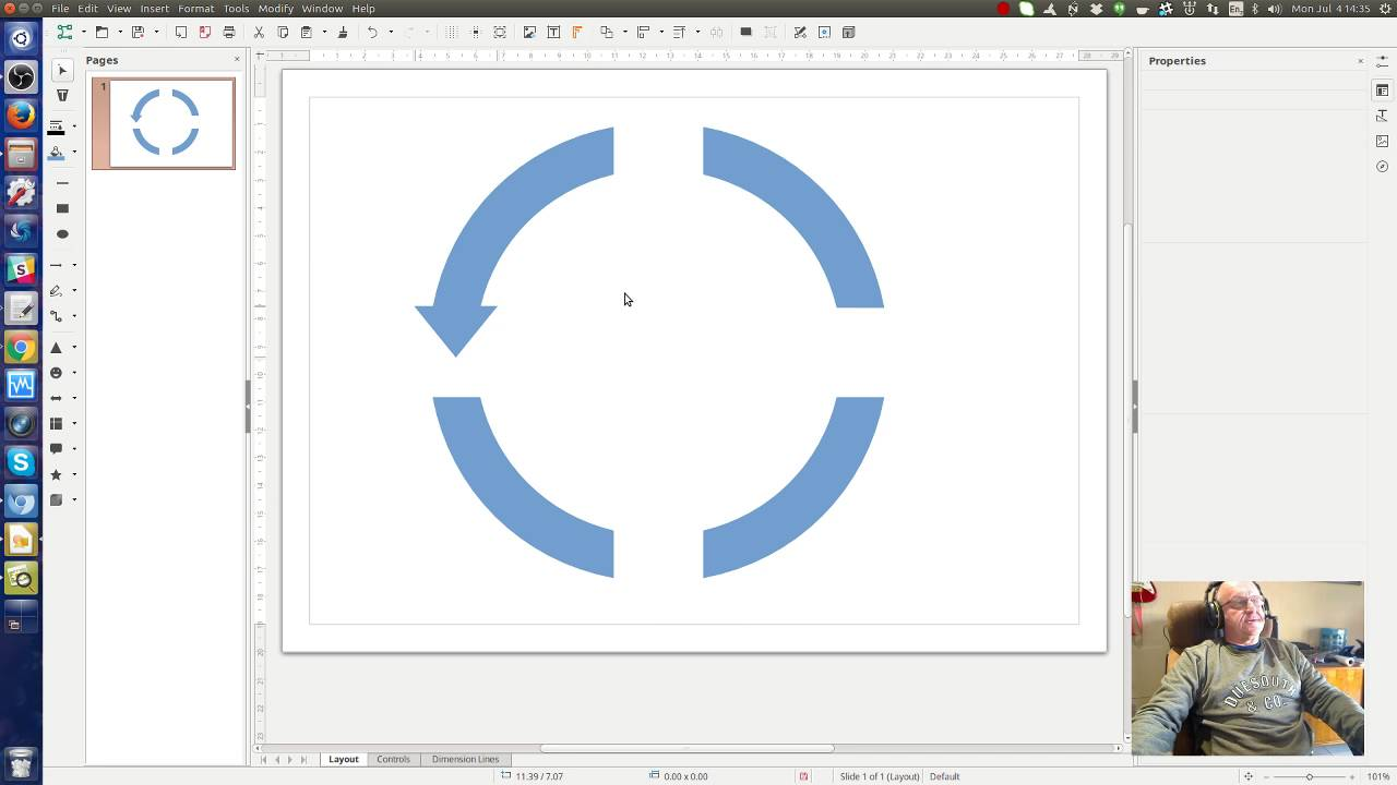 How To Make Circular Arrows In Libreoffice Draw Youtube