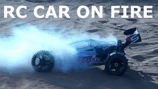 RC car on FIRE - MAVERICK VADER