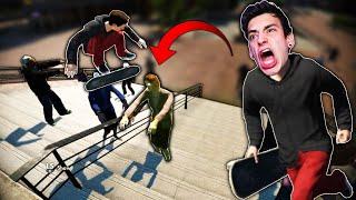 SKATING THROUGH A ZOMBIE APOCALYPSE! *Zombie Cheat Code* (Skate 3)