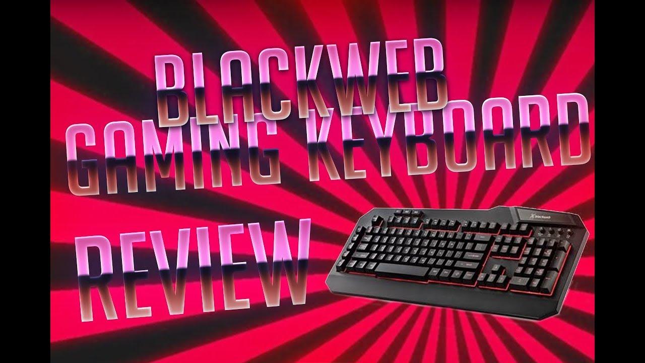 BlackWeb Keyboard Review (Driver Download in Desc )