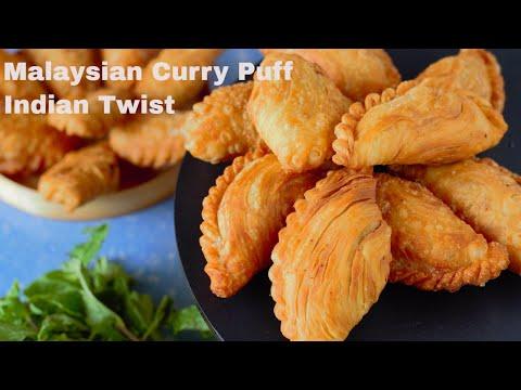 layered Karjikai Recipe | Guijiya Recipe | Malaysian Samosa | Karnataka Karjikai ,karanji recipe