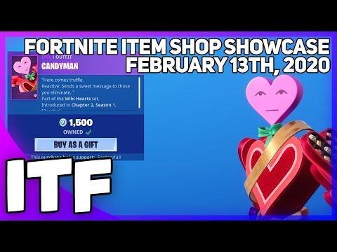 Fortnite Item Shop *NEW* CANDYMAN SKIN AND MORE! [February 13th, 2020] (Fortnite Battle Royale)