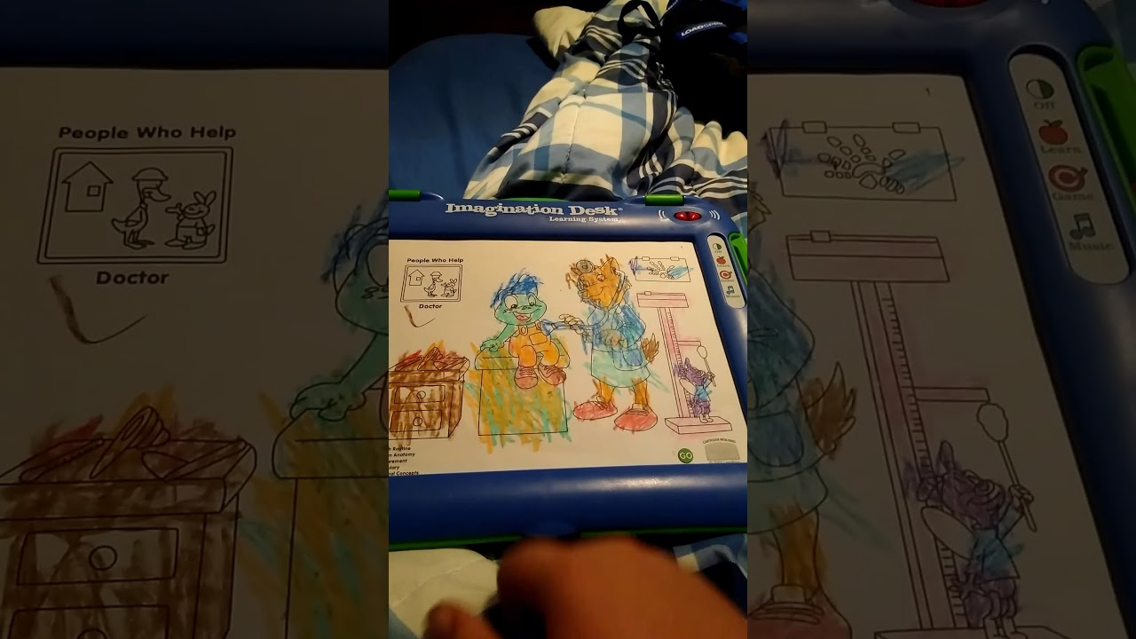 2002 Leapfrog Imagination Desk Tad Around Town Cartridge Coloring Book Part 1