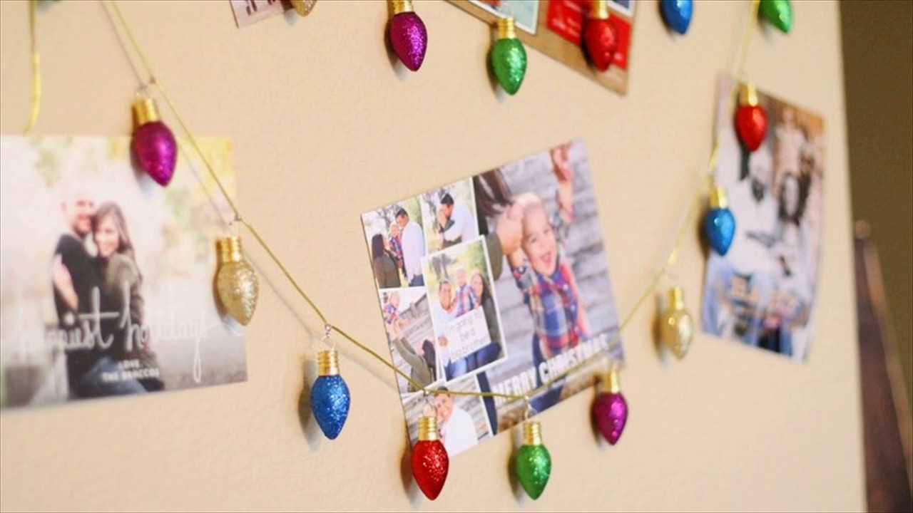 How To Make A Hanging Christmas Card Holder - YouTube