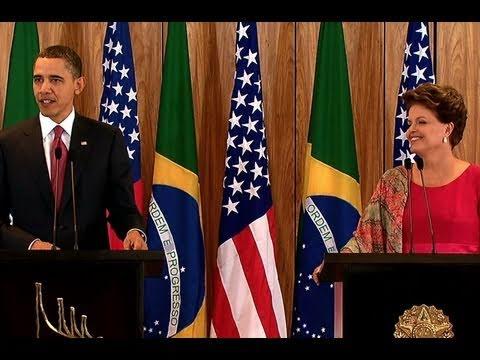 President Obama, President Rousseff Meet in Brasilia
