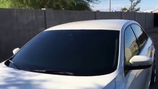 25 tint on windshield 20 over 5 tint 1 tint rest of the windows on a 2014 volkswagen passat