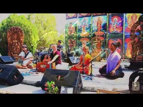 Kirtan artist, Girish, performing at Bhakti Fest 2012 -