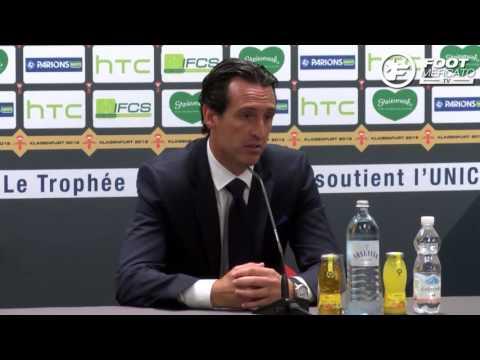 PSG 4-1 OL, Trophée des Champions : la réaction d'Unai Emery