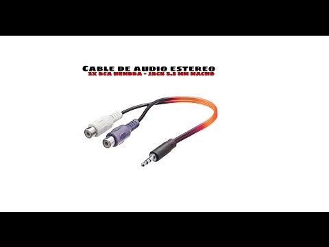 Video de Cable de audio estereo 2xRCA/H-JACK 3.5mm/M 0.25 M Negro