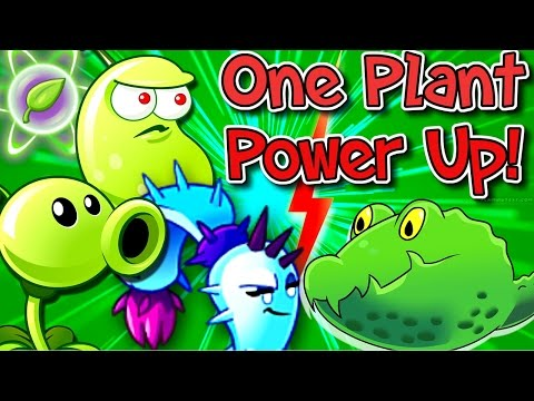 Plants vs. Zombies 2 Gameplay One Plant Power Up Vs Zombies Frostbite Caves
