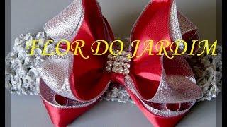 Novo Modelo de laço de fita de cetim e organza – Ribbon bow